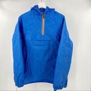 K-Way blue pullover vintage rain jacket
